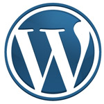 Wordpress icon - blue, small